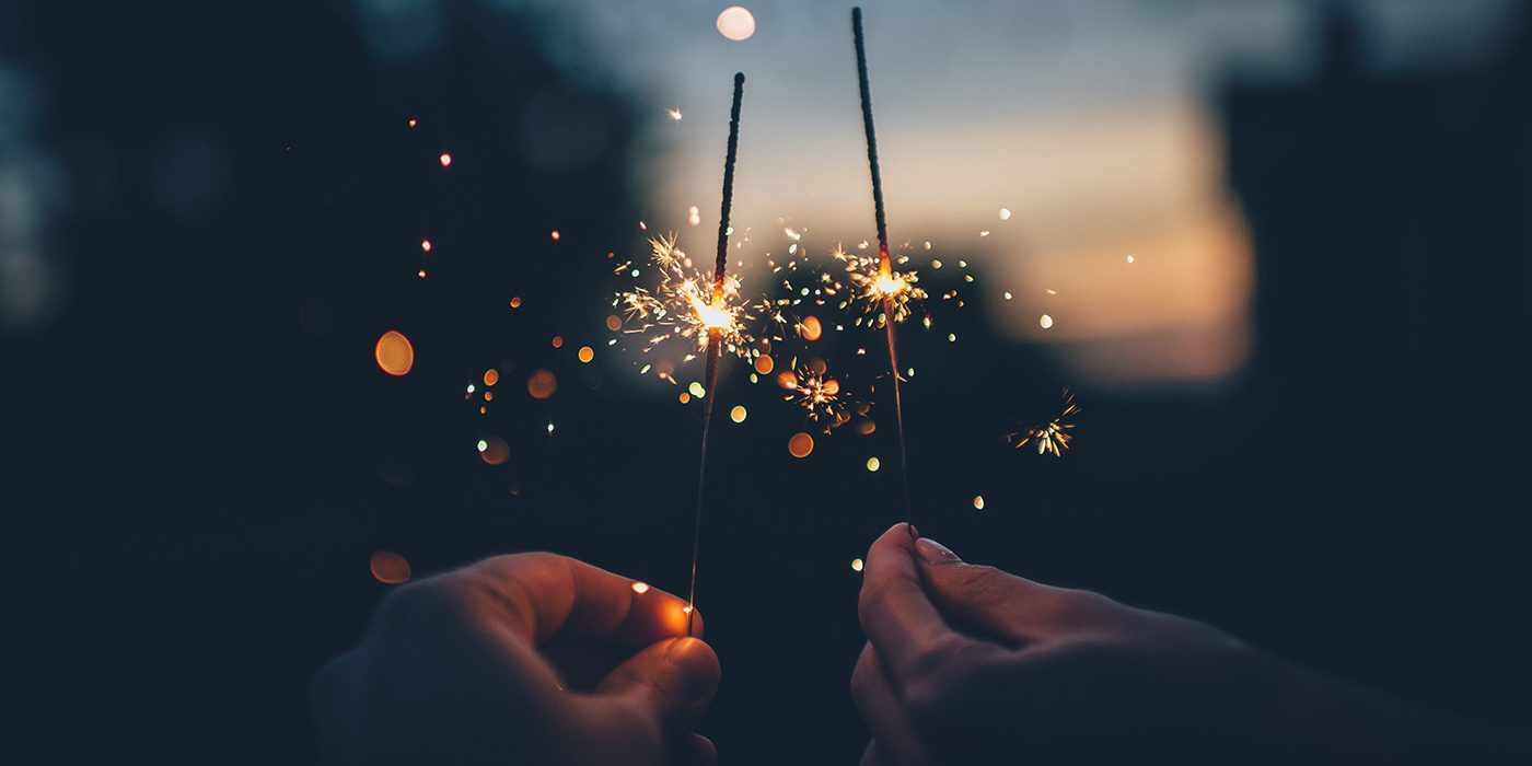 photo of two sparklers